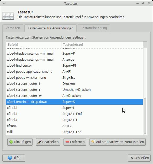 Drop-Down-Terminal per Tastaturkürzel aufrufen