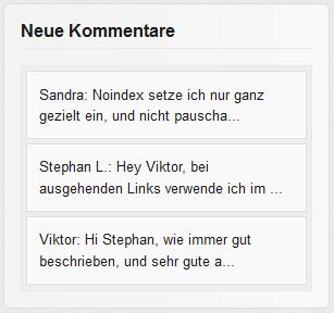 Beispiel: Letzte Kommentare in WordPress anzeigen
