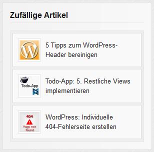 Beispiel: Zufällige Artikel in WordPress anzeigen
