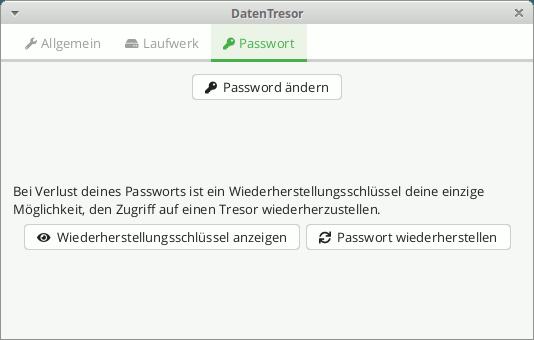 Cryptomator: Tresor - Passwort-Einstellungen