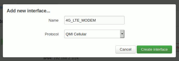OpenWrt: QMI-Interface in LuCI erstellen