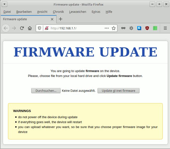 OpenWrt per U-Boot-Web-Recovery flashen