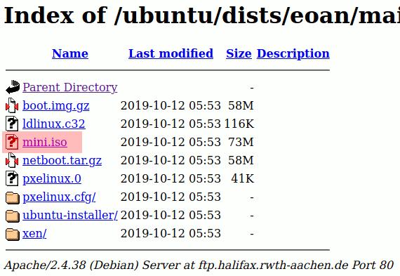 Xubuntu-Netzwerkinstallationsimage herunterladen - mini.iso