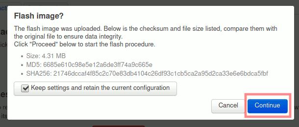 OpenWrt: Hochgeladene Firmware verifizieren