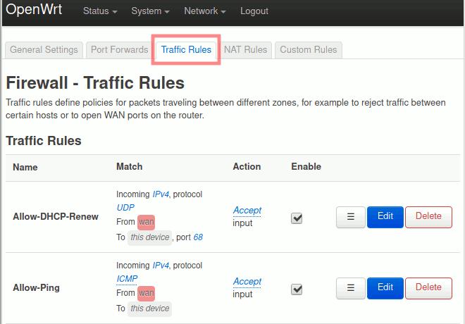 OpenWrt: Firewall-Regeln für Gast-Netzwerk festlegen