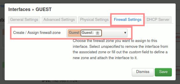 OpenWrt: Gast-Interface - Firewall-Einstellungen verifizieren
