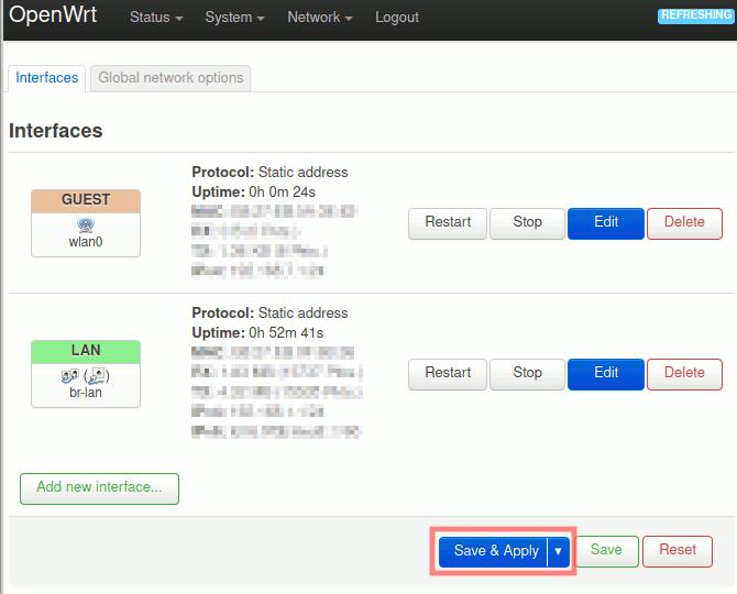 OpenWrt: WLAN-Zugangspunkte-Übersicht