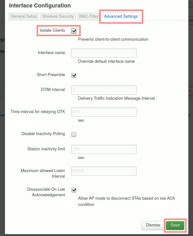 OpenWrt: Gast-WLAN-Zugangspunkt einrichten - Clients isolieren