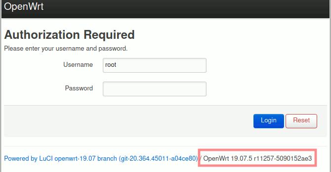 Aktuell installierte OpenWrt-Version ermitteln