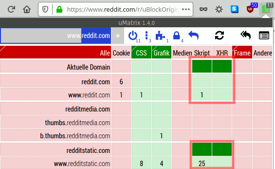 uBlock: Beispiel zum Umstieg von uMatrix auf uBlock
