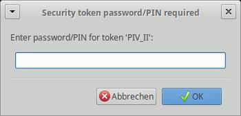 VeraCrypt: YubiKey-PIN-Abfrage für Schlüsseldatei