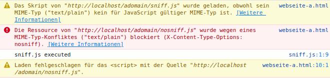 Beispiel für X-Content-Type-Options